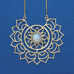 Sun with Moonstone Necklace