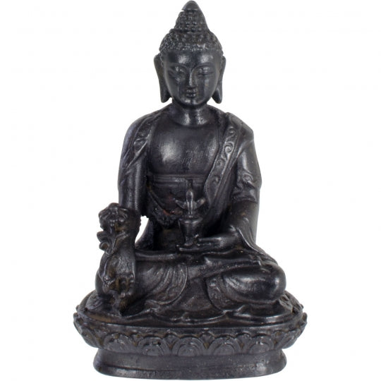 Buddha Sitting Black 4""