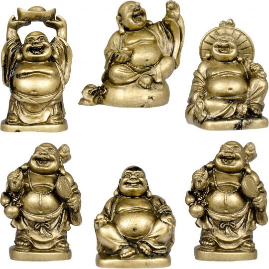 "Laughing Buddha 2"" Gold Color"