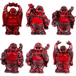 "Laughing Buddha 3"" Red Color"
