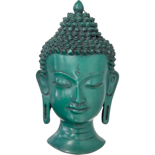 Buddha Head Wall Decor 8""