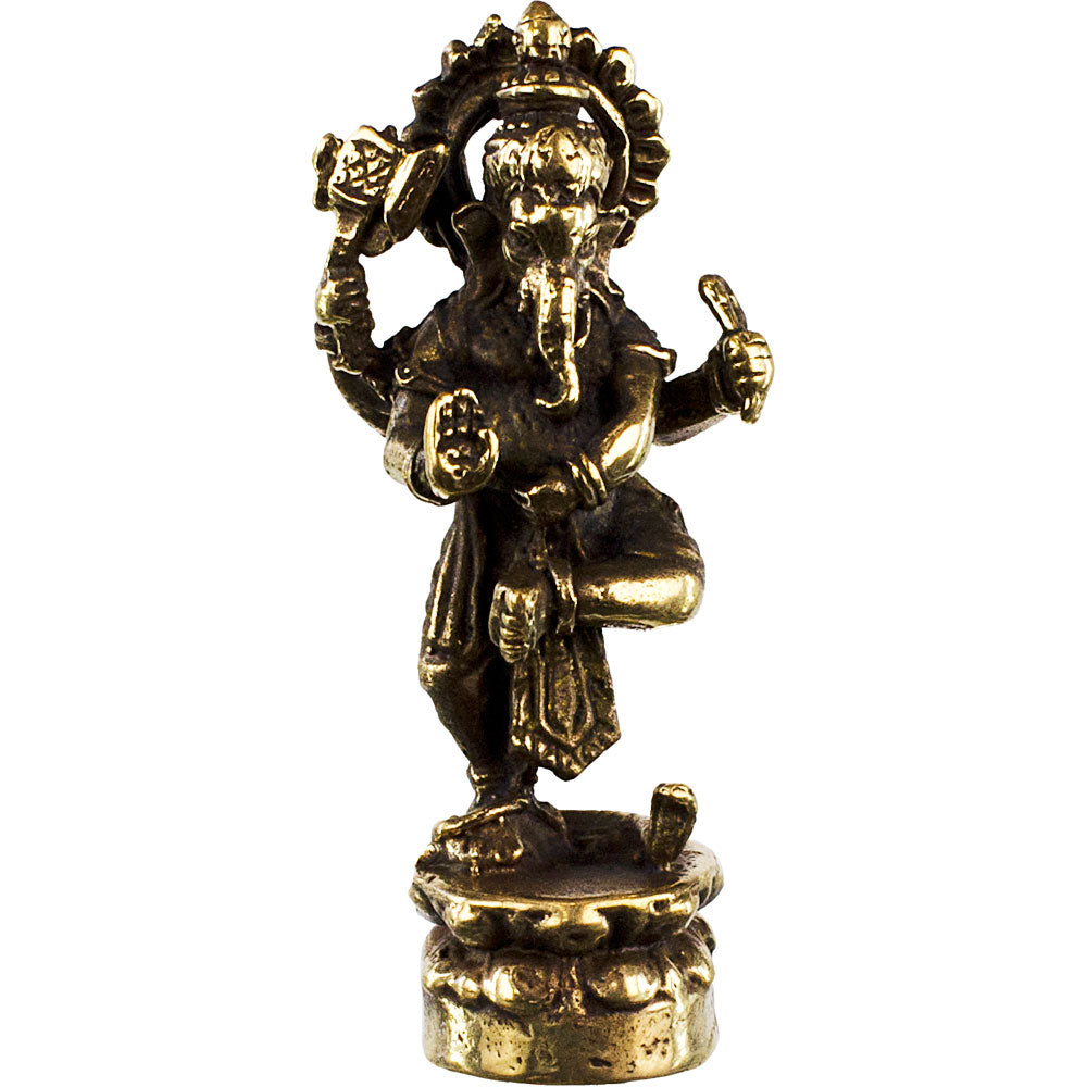 Ganesh Dancing Mini Brass