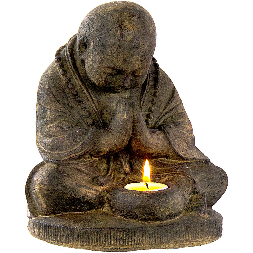 Praying Monk T-light Holder