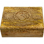 Carved Om Wooden Box