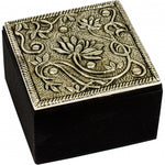 White Metal Lotus Trinket Box