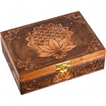 Bronze Flower of Life Metal Box