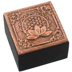 Bronze Flower of Life Trinket Box