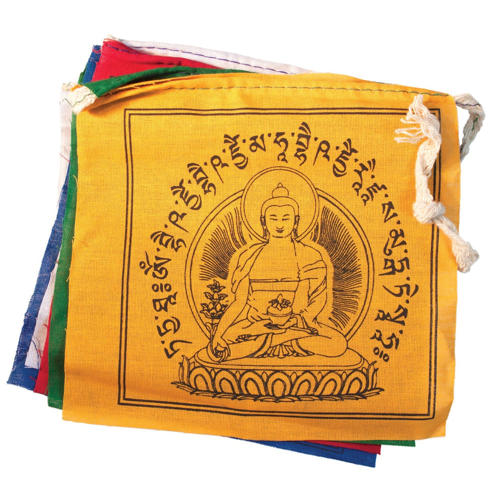 Tibetan Prayer Flag: Medicine Buddha