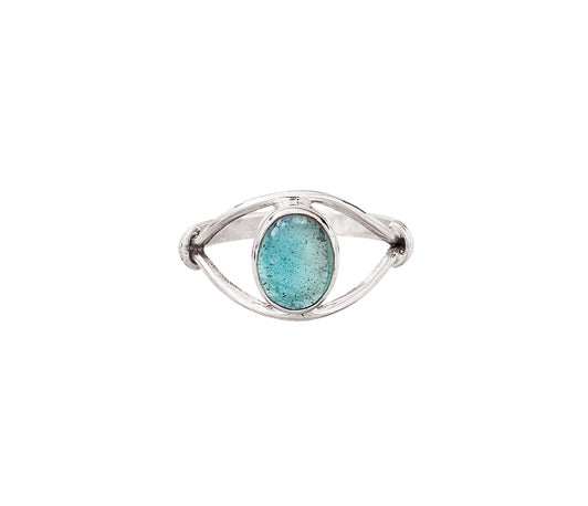Apatite & Silver Ring