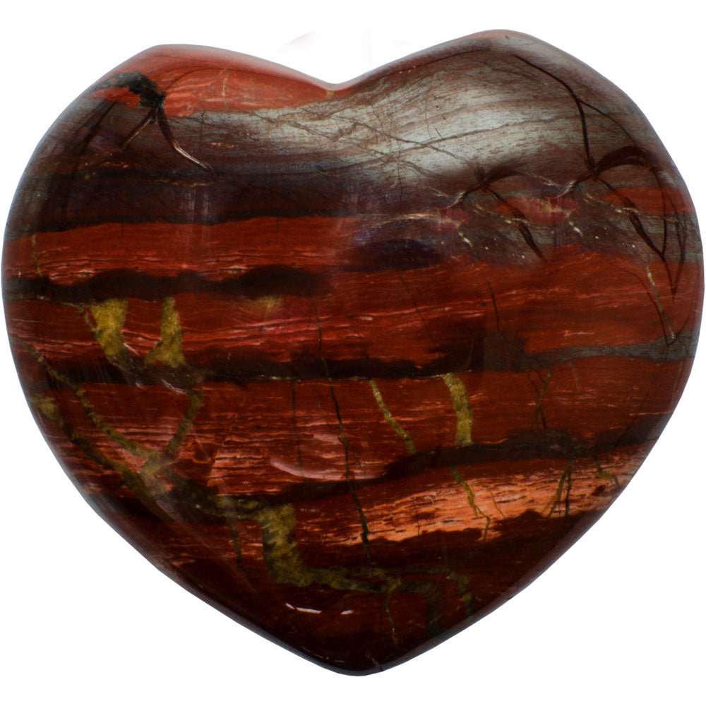 Poppy Jasper Gemstone Heart