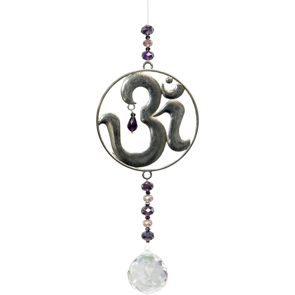 Crystal and Om Sun Catcher