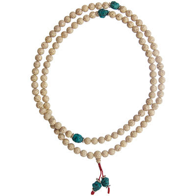Mala Prayer Beads Lotus Seed and Turquoise