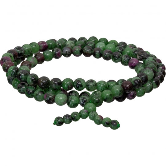 Ruby Zoisite Stretch Mala