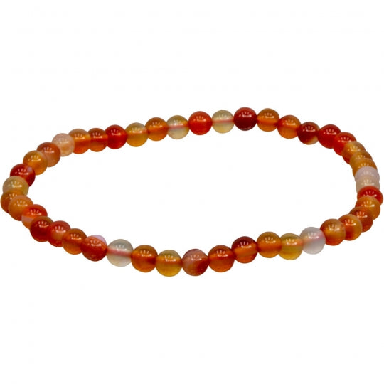 Red & Brown Agate 4mm Bracelet