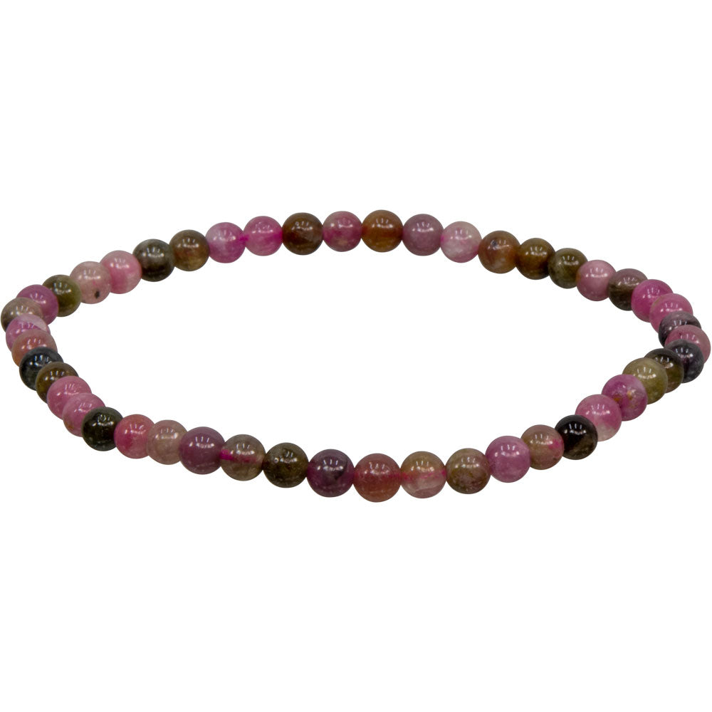 Pink Mixed Tourmaline 4mm Bracelet