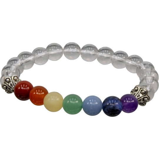 Chakra and Assorted Stone 8mm Bracelet