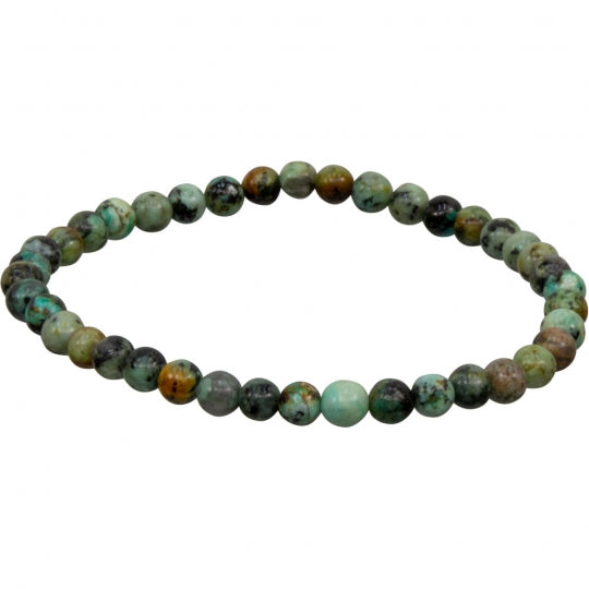 African Turquoise 4mm Bracelet