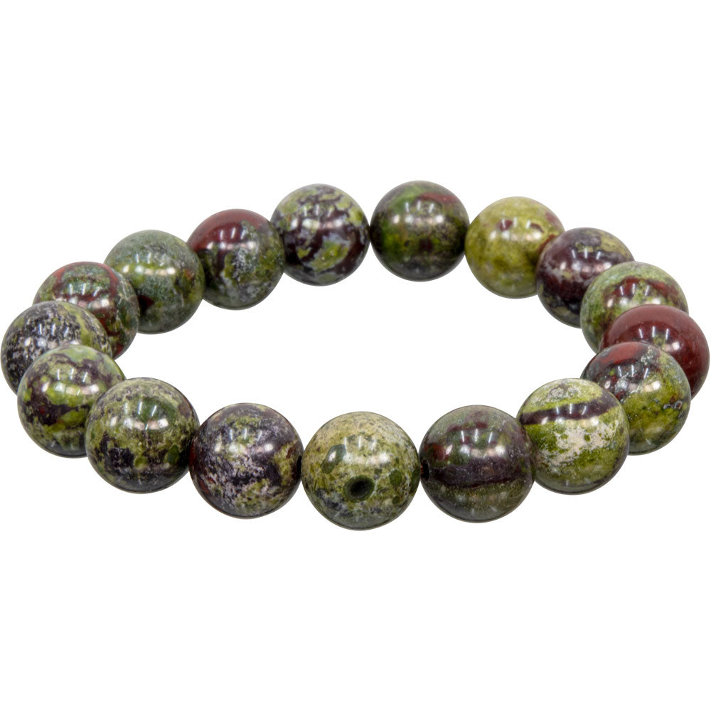 Dragon's Blood Jasper 12mm Bracelet