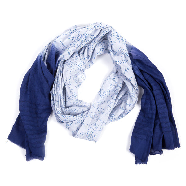 Nature's Dip-Dye Scarf - Blue