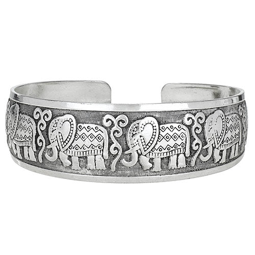 White Bronze Elephant Cuff