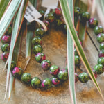 Ruby Zoisite 8mm Bracelet