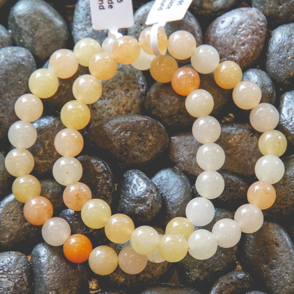Yellow Jade 8mm Bracelet