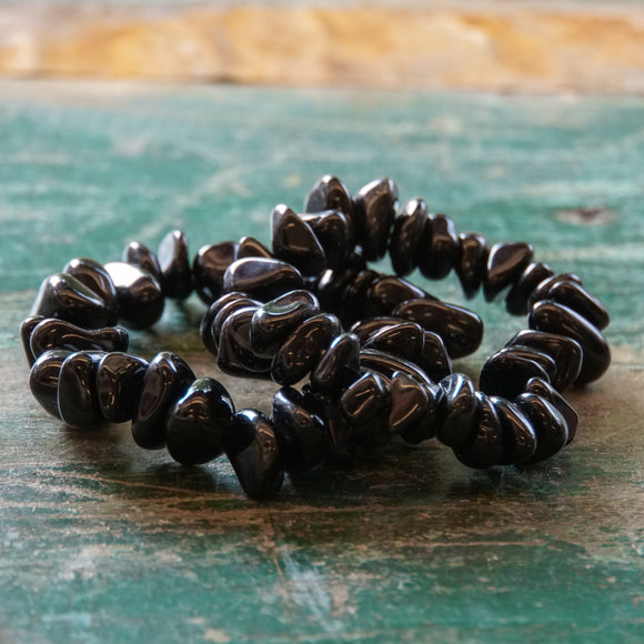 Black Onyx Large Chip Bracelet