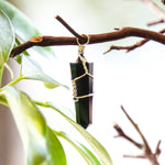 Black Sardonyx Point Pendant