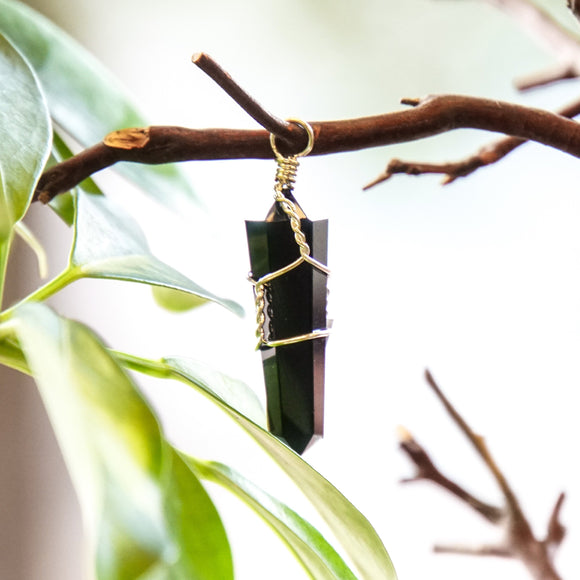Black Obsidian Point Pendant