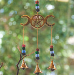 Hanging Bells Triple Moon Pentacle