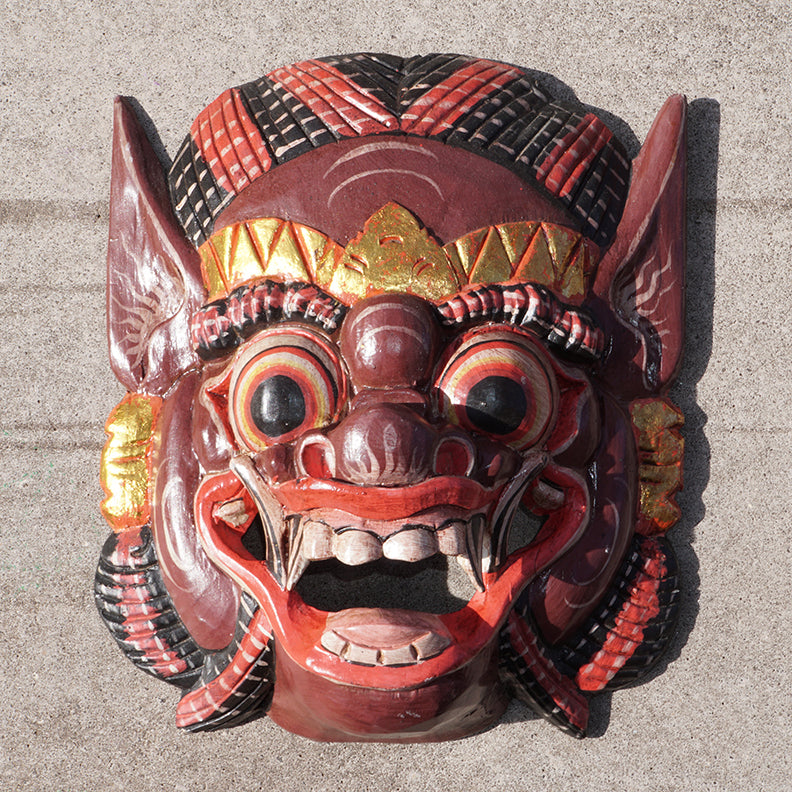 Barong Painted Mask 10""