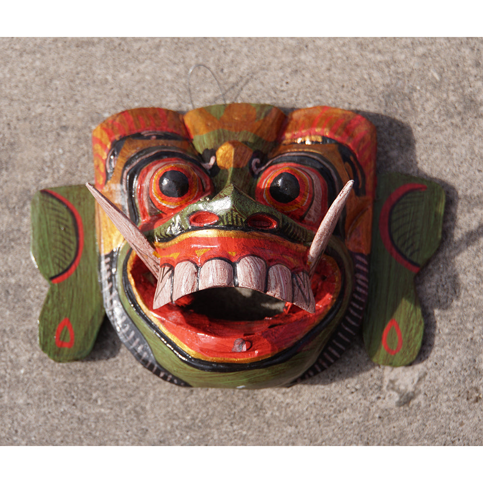 Mask Green with details Wall Art