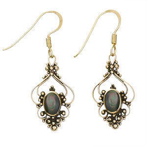 Mother of Pearl Black Bronze Earring