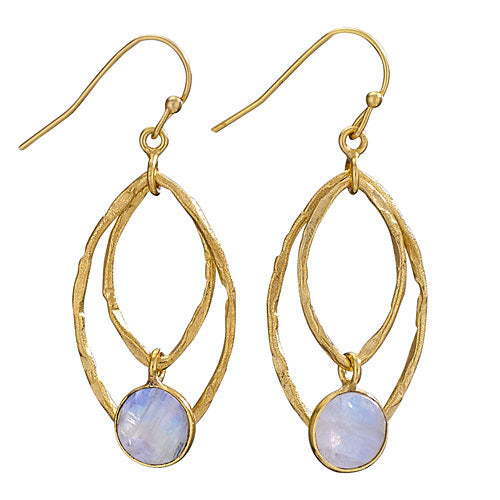 Moonstone 18K Gold Plated Earring