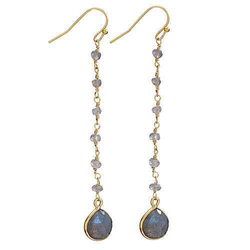 Labradorite 18K Gold Plated Earring