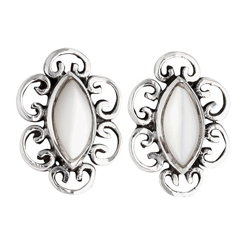 Mother of Pearl Silver Stud Earring