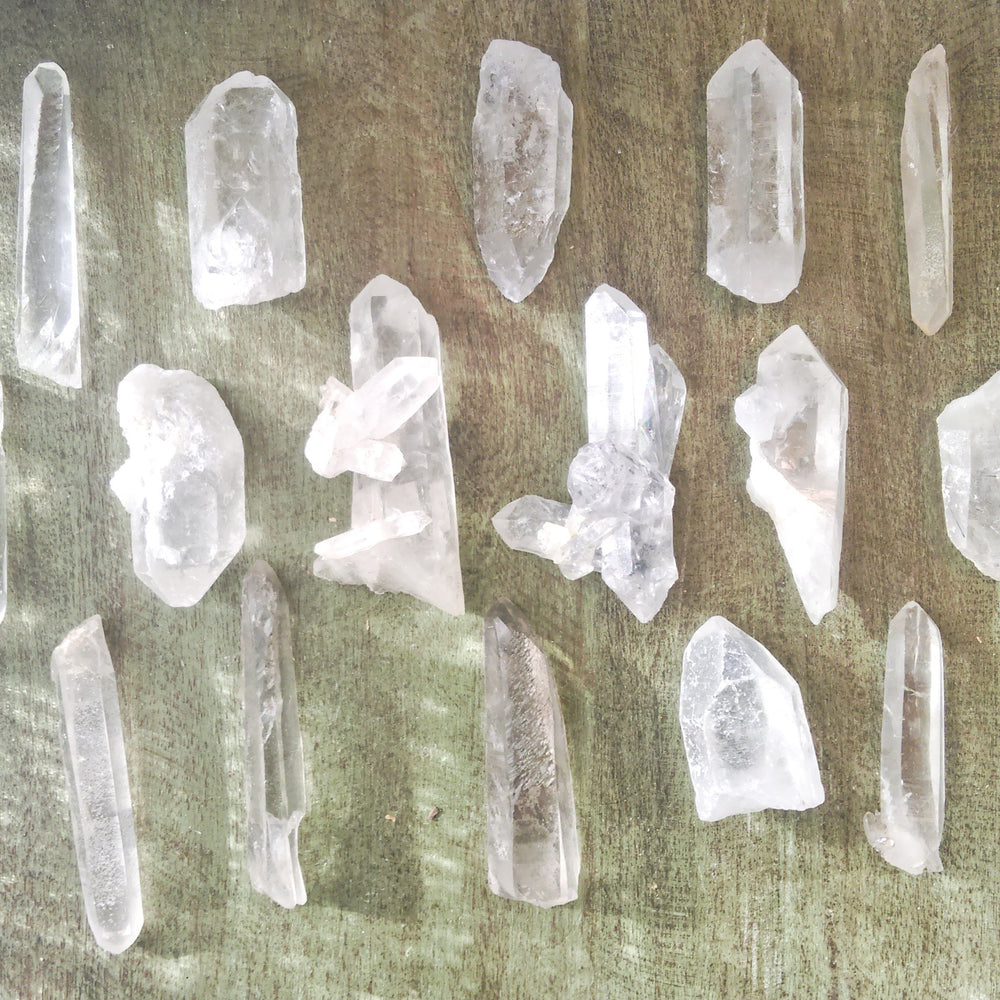 Raw Crystal Quartz Points