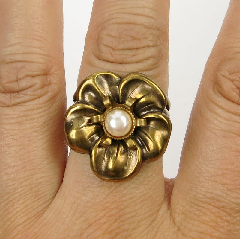 Brass Flower Ring