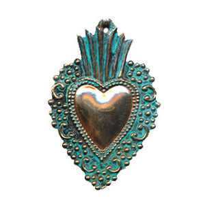 Copper Heart Ornament, 3.5""