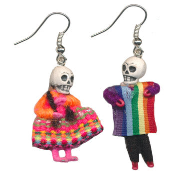 Skeleton Figurine Earrings