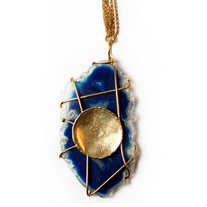 Free Form Blue Agate Necklace