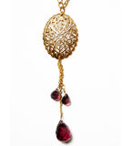 Gold Plated and Amethyst Necklace