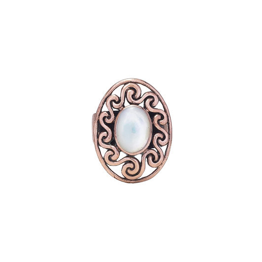 Mother of Pearl Copper Ring