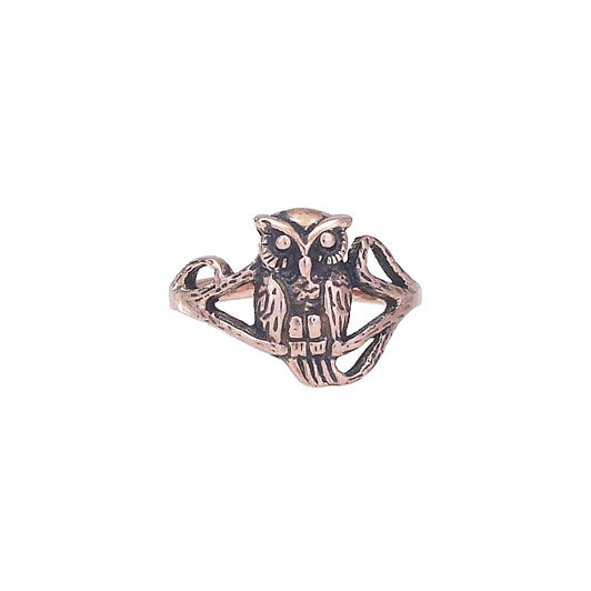 Copper Owl Ring