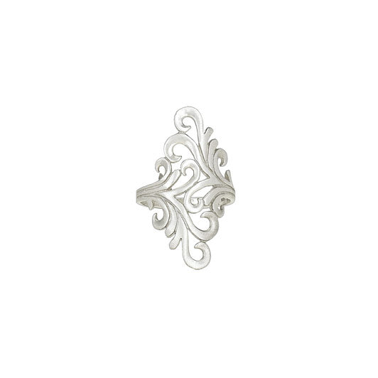 Double Vine Silver Ring
