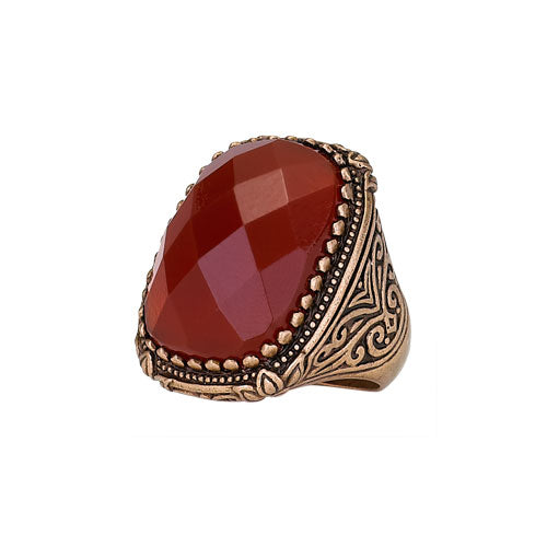 Carnelian and Copper Ring