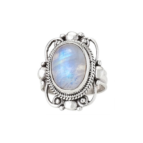 Moonstone & Silver Ring