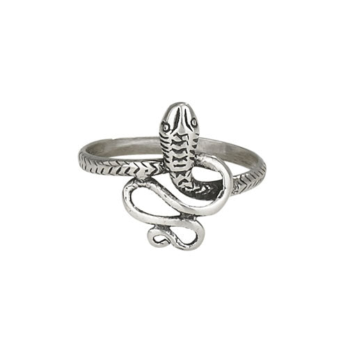 Coiled Snake Silver Ring