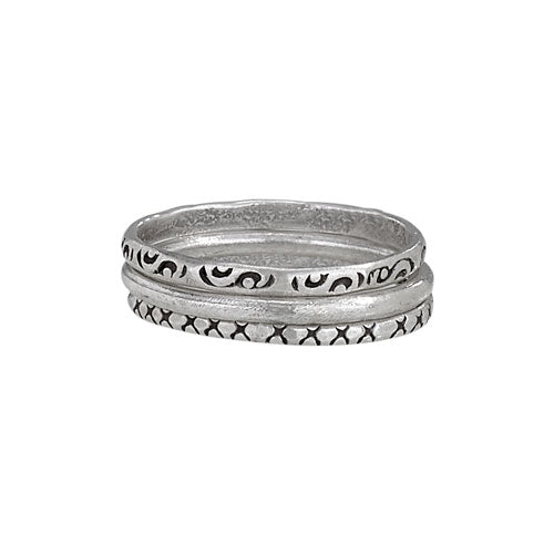 Three Stack Silver Ring