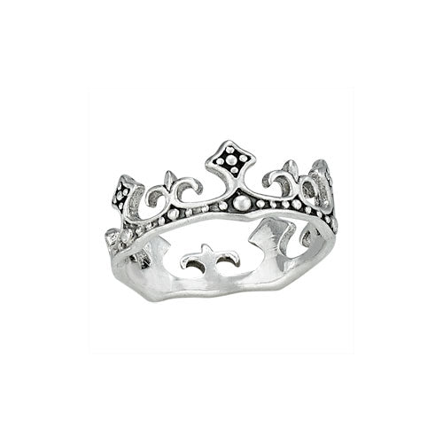 Wrap Around Crown Silver Ring
